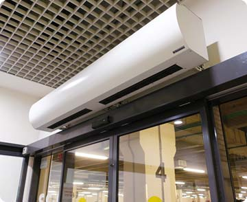 Нерециркуляционная воздушная тепловая завеса